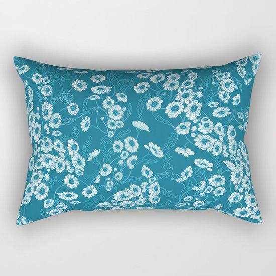 Daisy Dream Blue Rectangular Pillow