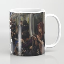 little man in a big city: with no one, with no phone. Coffee Mug