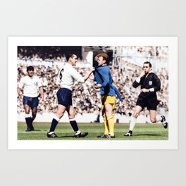 Dave MacKay and Billy Bremner in colour Art Print