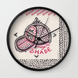 Hotness getting some shade Wall Clock