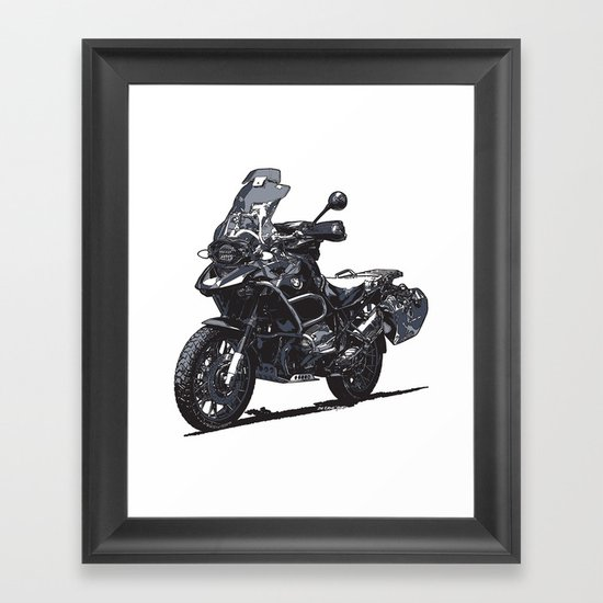 BMW R1200GS Framed Art Print