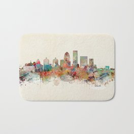 louisville kentucky skyline Bath Mat