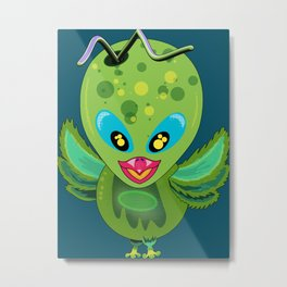 Alien Bird Metal Print