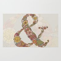 ampersand Area & Throw Rugs featuring Ampersand by Valentina Harper