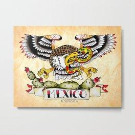 Mexican Flag Metal Print