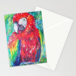 Beautiful Scarlet Macaw Stationery Cards