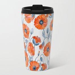 Poppies botanical art Travel Mug
