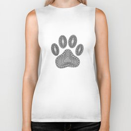 Ink Dog Paw Print Biker Tank
