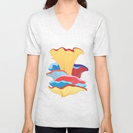 Pattern of colorful mushrooms Unisex V-Neck
