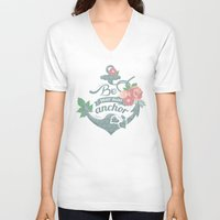 anchor V-neck T-shirts featuring Anchor by siny