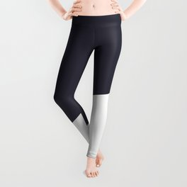 Urban Geometry Navy Blue + White Leggings