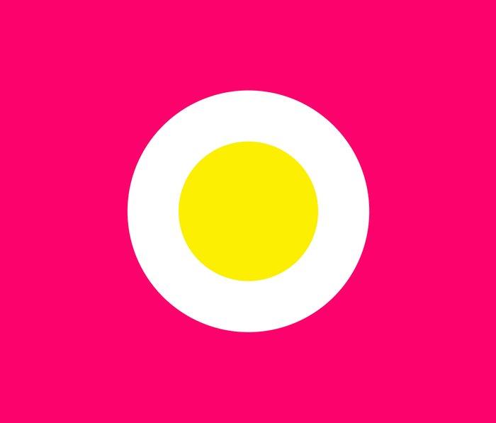 Fried egg on Pink Metal Travel Mug