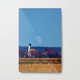 Concept landscape : View to a chapel Metal Print