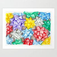 bows Art Prints featuring Bows by Lady Tanya bleudragon
