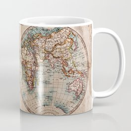 Vintage Map of the World 1800 Coffee Mug