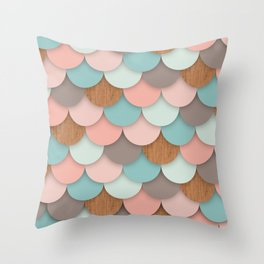 Scallops Throw Pillow