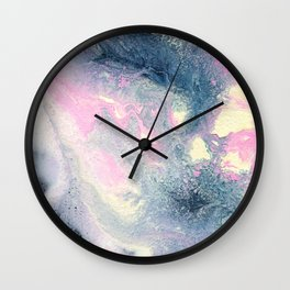 Dark gray & pink abstract II Wall Clock