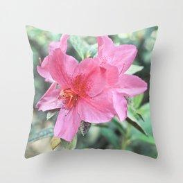 Blooming Azalea Throw Pillow