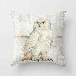 SnowOwl Throw Pillow