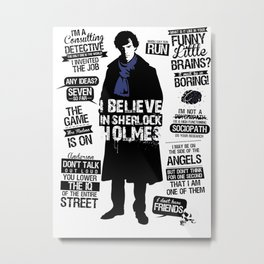 Detective Quotes Metal Print