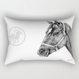 Affirmed (US) Thoroughbred Stallion Rectangular Pillow