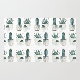 Caci and succulents Rug