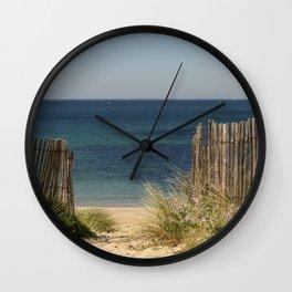 Path to beach Wall Clock