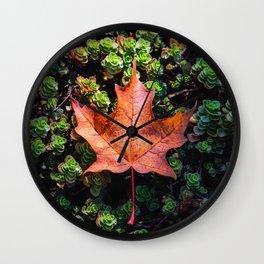 Fall's Flag Wall Clock