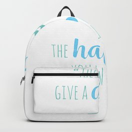 Aquarius   The Less You Give A Damn The Happier You Will Be Backpack