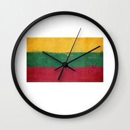 Lithuania Flag design | Lithuanian design Wall Clock