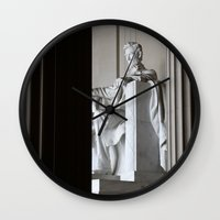lincoln Wall Clocks featuring Lincoln.  by Jeska Speck
