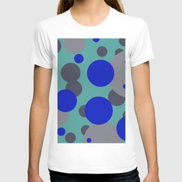 bubbles blue grey turquoise design T-shirt
