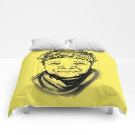Maya Angelou - (yellow) Sketch to Digital Comforters