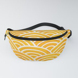 Japanese Seigaiha Wave – Marigold Palette Fanny Pack