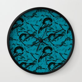 Blue Decay Wall Clock