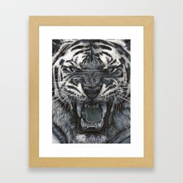 Tiger Roar! - By Julio Lucas Framed Art Print