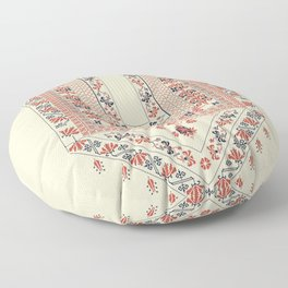 Palestinian traditional embroidery motif Floor Pillow