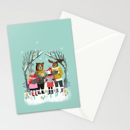 Woodland Christmas Carols by Andrea Lauren  Stationery Cards