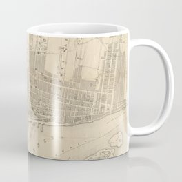 Vintage Map of Montreal (1859) Coffee Mug