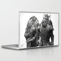teenage mutant ninja turtles Laptop & iPad Skins featuring Green Teenage Heroes  by Julio Lucas