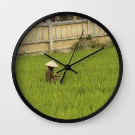 Rice Fields, Vietnam Wall Clock