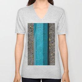 Turquoise Curb Unisex V-Neck