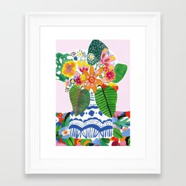 Abstract Flower Bouquet Framed Art Print
