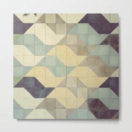 São Paulo Tile Pattern Metal Print
