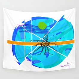 Octopus Love Wall Tapestry
