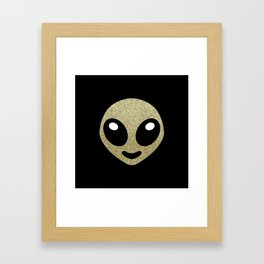 Alien smiley Framed Art Print
