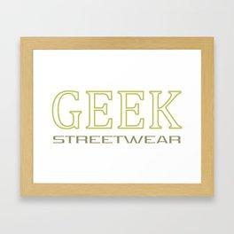 Geek streetwear (gold) Framed Art Print