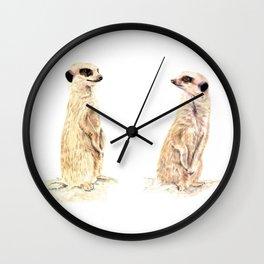 Two Meerkats Wall Clock