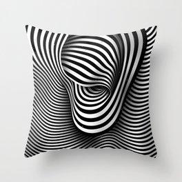 The Ear (black-white) Throw Pillow