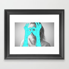 Peak-a-Boo Framed Art Print